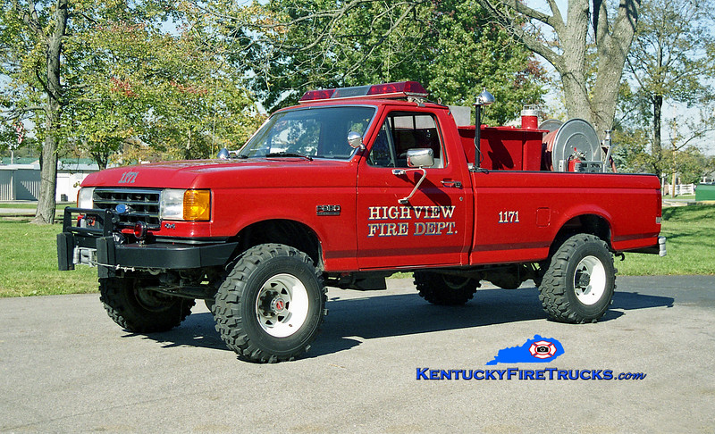 <center> Highview Forestry 1171 <br> 1989 Ford F-350 4x4/American 250/250 <br> Kent Parrish photo </center>