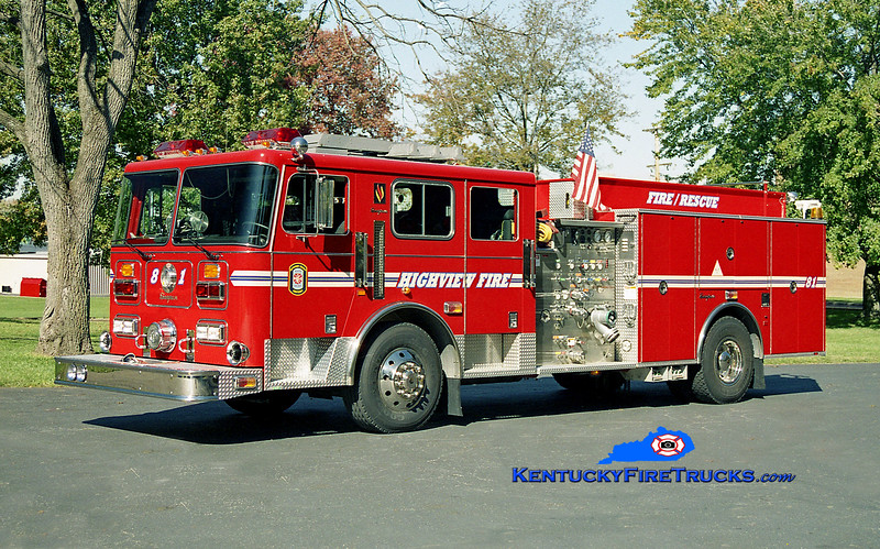<center> Highview Rescue 1181 <br> 1998 Seagrave Commander 1500/500 <br> Kent Parrish photo </center>