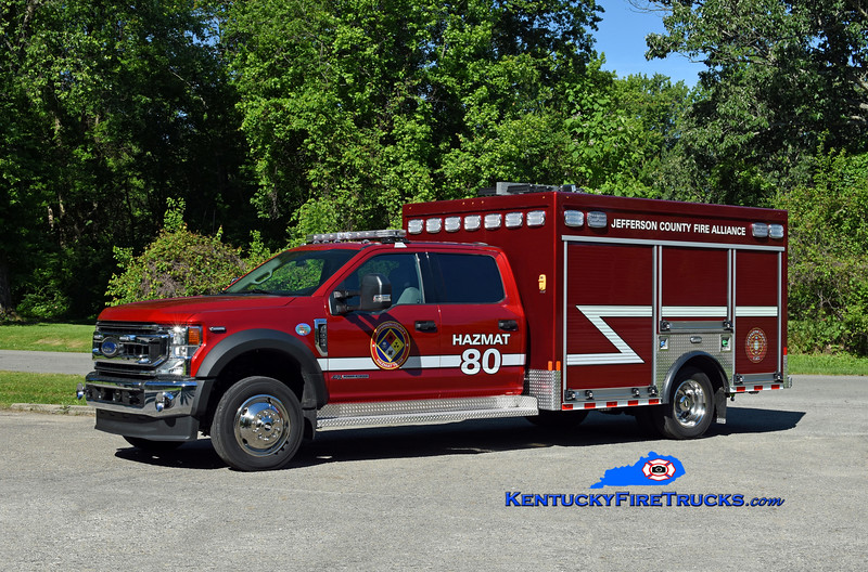 Jefferson County Fire Alliance Hazmat 80<br /> 2020 Ford F-550 4x4/Custom Truck & Body Works<br /> Kent Parrish photo