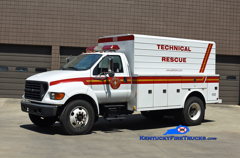 Jefferson County Fire Service Special Operations Team<br /> Technical Rescue Unit 6888<br /> 1999 Ford F-650/Reading-Manning<br /> Kent Parrish photo