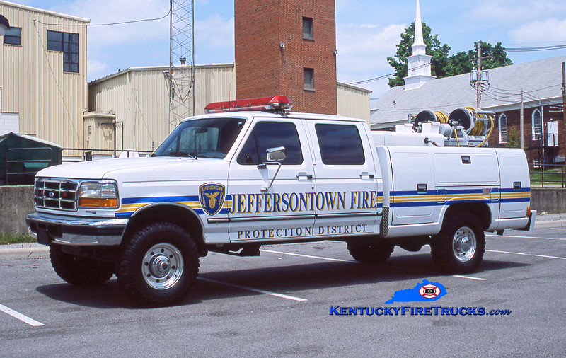 RETIRED <br /> Jeffersontown Forestry 3379<br /> 1997 Ford F-350 4x4/Reading 60/200/5<br /> Kent Parrish collection