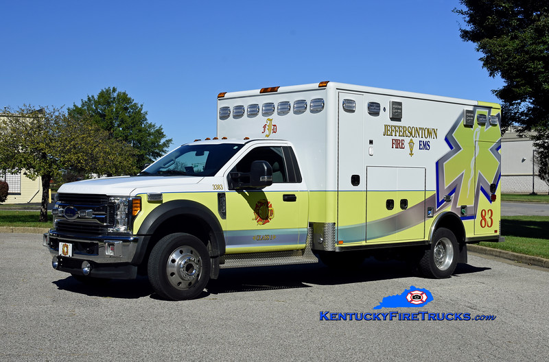 Jeffersontown  Medic 3383<br /> 2018 Ford F-550 4x4/Horton<br /> Kent Parrish photo