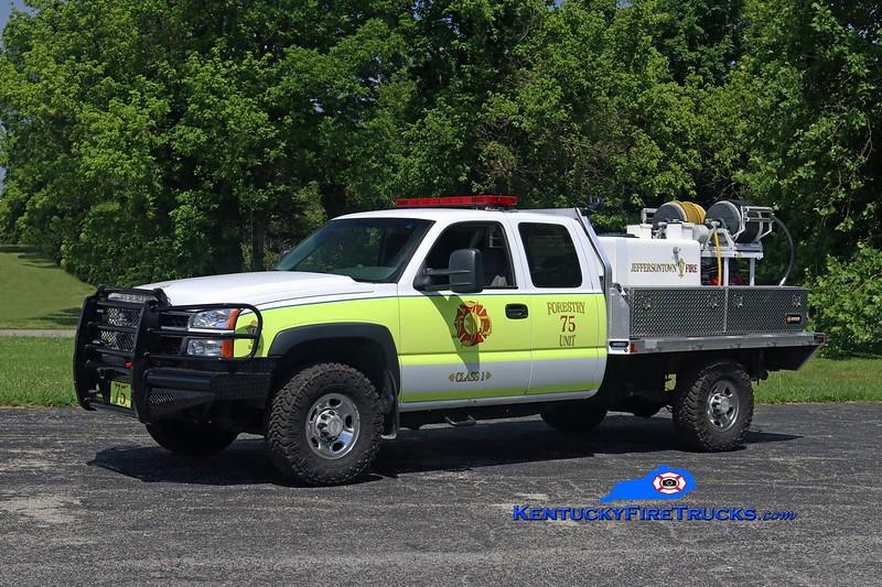 Jefferstontown  Forestry 3375<br /> 2006 Chevy 2500 4x4/Mertz/2017 JFD 125/200<br /> Kent Parrish photo