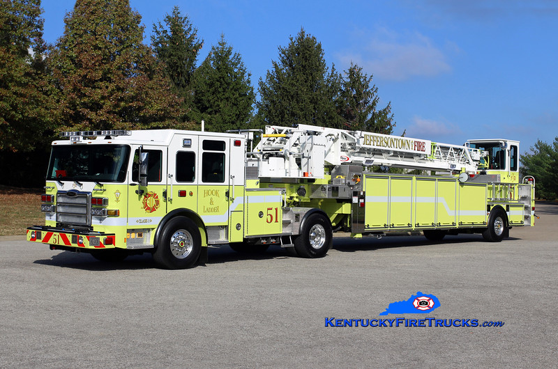 Jeffersontown  Truck 3351<br /> 2016 Pierce Enforcer 100' <br /> Kent Parrish photo