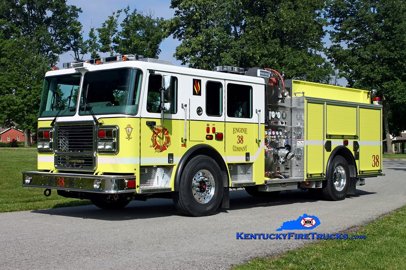 <center> REASSIGNED <br> Jeffersontown  Engine 3338 <br> 2013 Seagrave Marauder II 2000/750 <br> Kent Parrish photo </center>