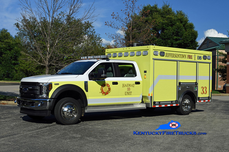 Jeffersontown  Hazmat 33<br /> x-Hazmat 3388 <br /> 2018 Ford F-550 4x4/Custom Truck & Body Works<br /> Kent Parrish photo