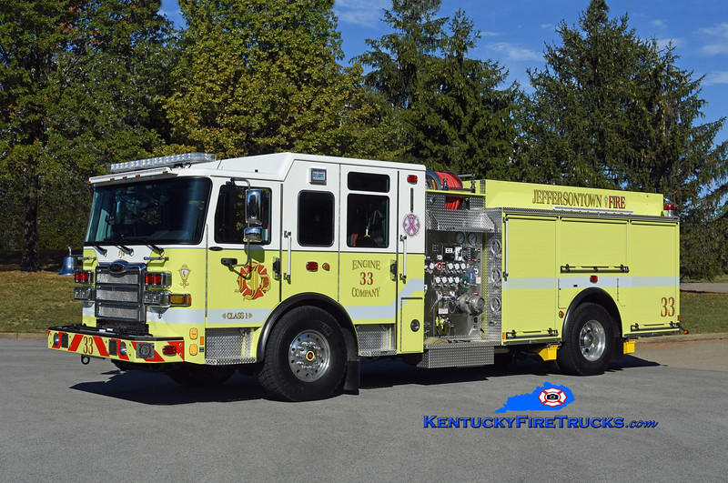 Jeffersontown  Engine 3333<br /> x-Engine 3331 <br /> 2019 Pierce Enforcer 2000/750<br /> Kent Parrish photo