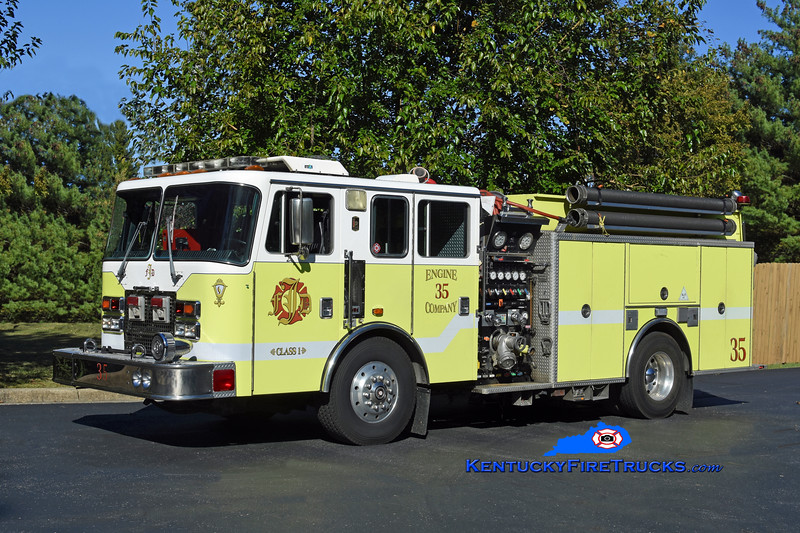 Jeffersontown Engine 3335<br /> x- Engine 3331 <br /> 1997 KME Renegade 1500/750<br /> Kent Parrish photo