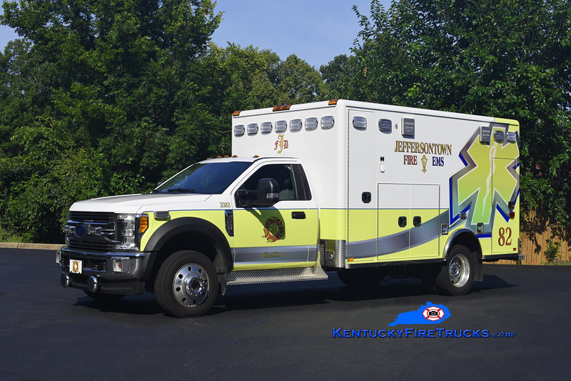 Jeffersontown  Med 3382<br /> 2018 Ford F-550 4x4/Horton<br /> Kent Parrish photo