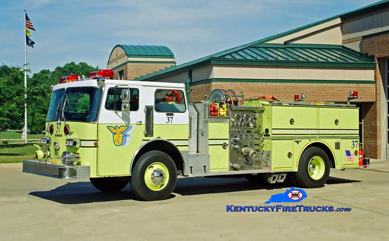 RETIRED<br /> Jeffersontown Engine 3337<br /> x-Pleasure Ridge Park, KY<br /> 1982 Duplex D-350/Grumman 1250/750<br /> Kent Parrish photo