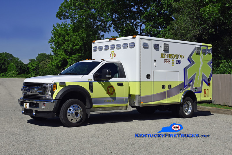 Jeffersontown  Med 3381<br /> 2018 Ford F-550 4x4/Horton<br /> Kent Parrish photo