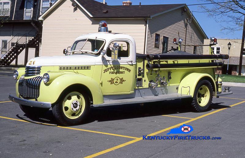 ANTIQUE<br /> Jeffersontown Engine 2<br /> 1941 Chevy/Seagrave 500/0<br /> Kent Parrish collection