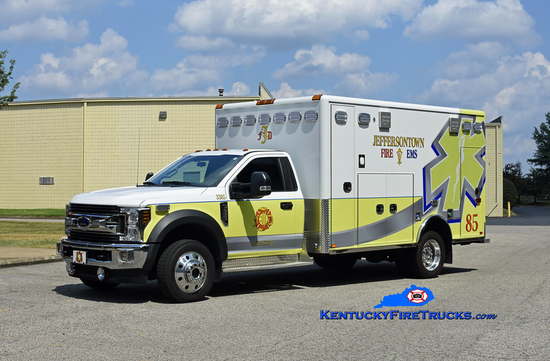 Jeffersontown  Med 3385<br /> 2019 Ford F-550 4x4/Horton<br /> Kent Parrish photo