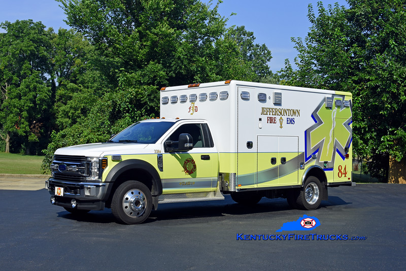Jeffersontown  Medic 3384<br /> 2018 Ford F-550 4x4/Horton<br /> Kent Parrish photo