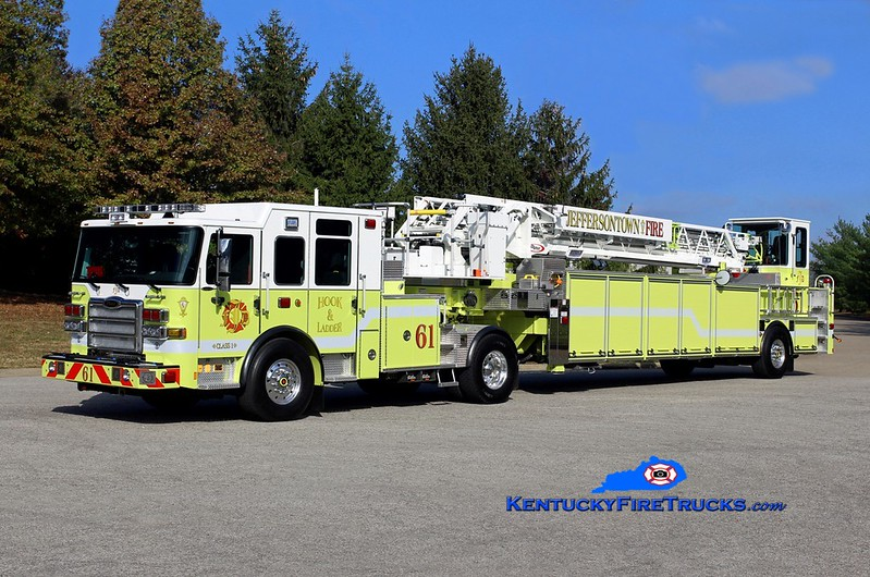 Jeffersontown  Truck 3361<br /> x-Truck 3351<br /> 2016 Pierce Enforcer 100' <br /> Kent Parrish photo