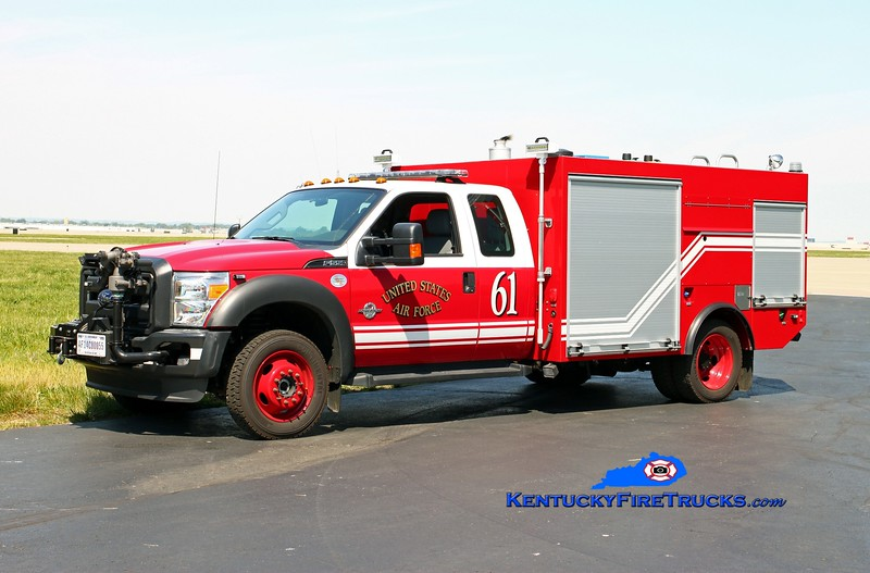 <center> Kentucky Air National Guard  Rescue 61 <br> 2014 Ford F-550 4x4/KME P-34 UHP 90/400/15A/56B <br> Kent Parrish photo </center>