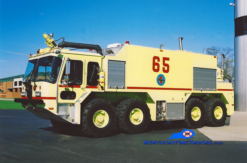 <center> RETIRED <br> Kentucky Air National Guard  Rescue 65 <br> 1994 Teledyne/E-One P-23 2000/2000/300 <br> Kent Parrish photo </center>