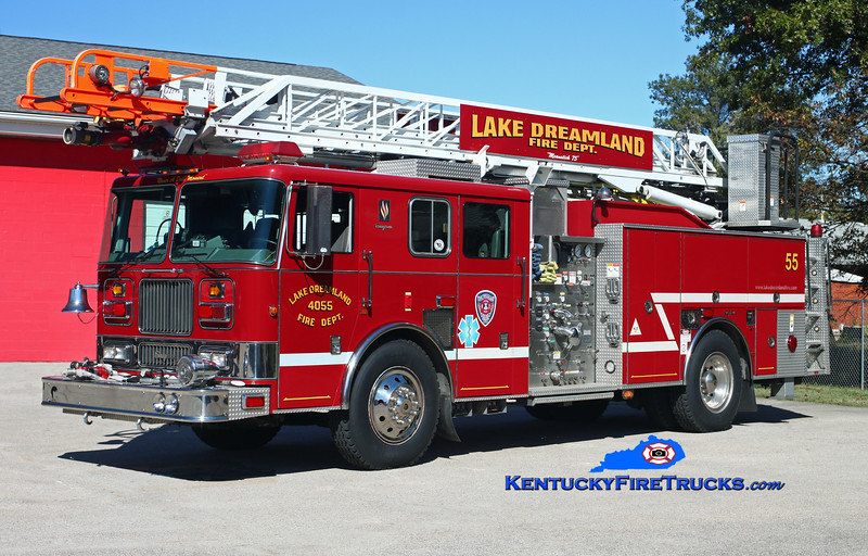 NOW WITH PLEASURE RIDGE PARK <br /> Lake Dreamland  Quint 4055<br /> 2000 Seagrave Marauder 1500/500/75' Meanstick<br /> Kent Parrish photo