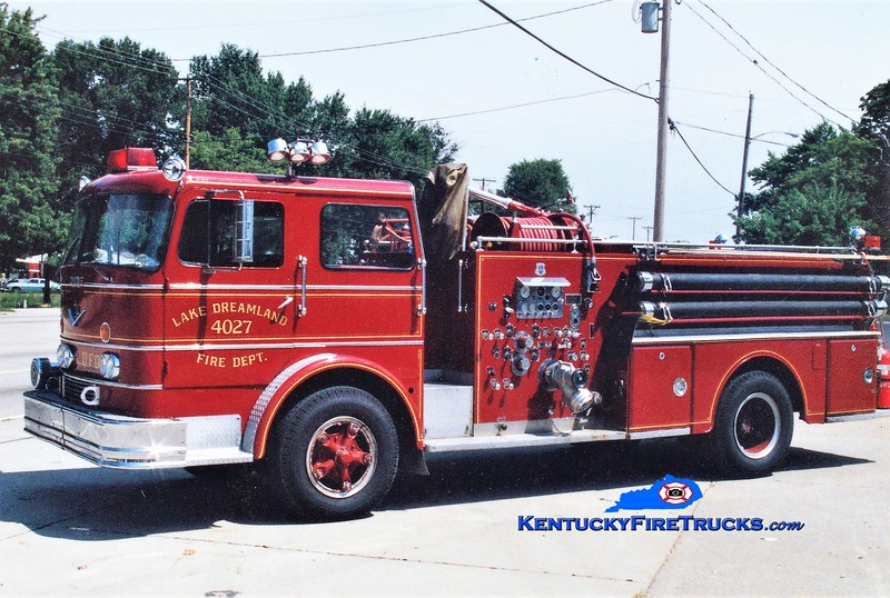 RETIRED<br /> Lake Dreamland  Engine 4027<br /> 1962 International CO-8190/Howe 1000/500<br /> Greg Stapleton photo