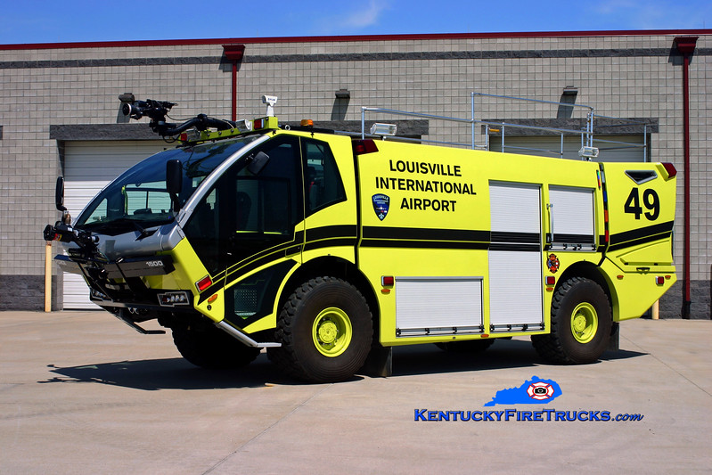 <center> Louisville International Airport  Rescue 49 <br> 2009 KME Force 2000/1500/200F/500DC <br> Kent Parrish photo </center>