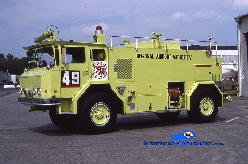 RETIRED<br /> Standiford Field Rescue 49<br /> 1978 Walter 1000/1500/200<br /> Kent Parrish collection