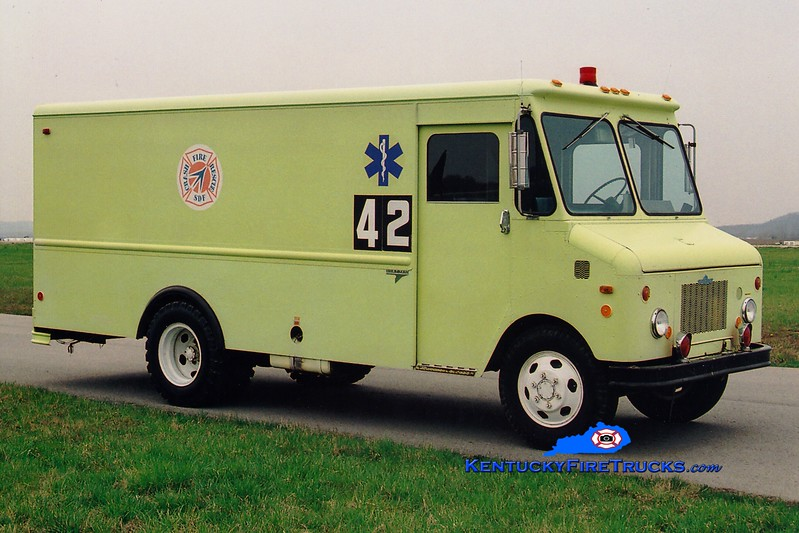 <center> RETIRED <br> Louisville International Airport  Rescue 42 <br> 1980 Chevy/Grumman-Olson <br> Greg Stapleton photo </center>
