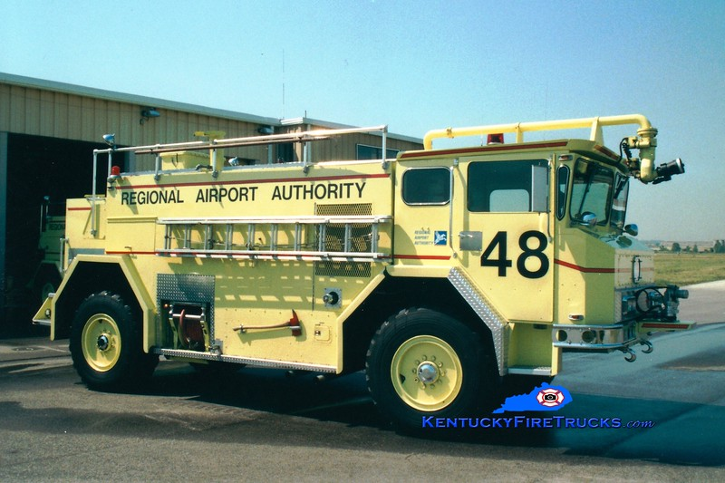 <center> RETIRED <br> Louisville International Airport  Rescue 48 <br> 1974 Walter 1000/1800/180 <br> Greg Stapleton photo </center>