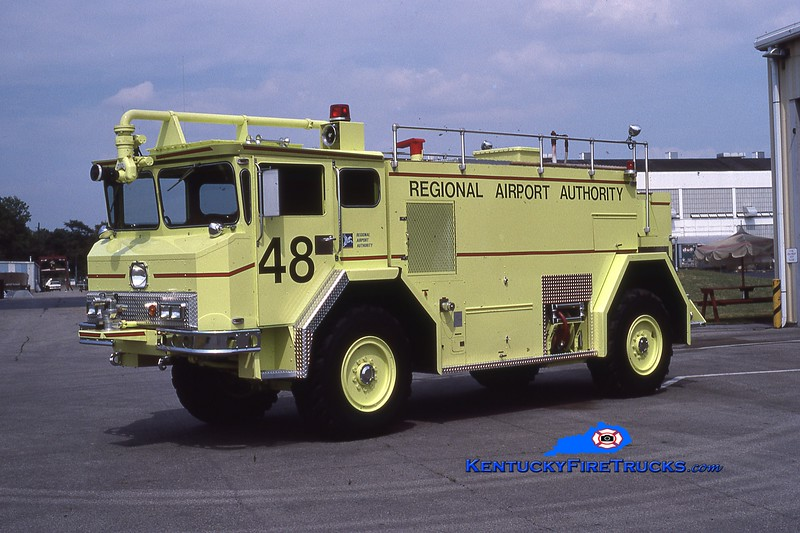 RETIRED<br /> Standiford Field Rescue 48<br /> 1976 Walter 1000/1800/200<br /> Kent Parrish collection