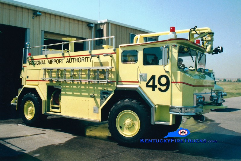 <center> RETIRED <br> Louisville International Airport  Rescue 49 <br> 1976 Walter 1000/1800/200 <br> Greg Stapleton photo </center>