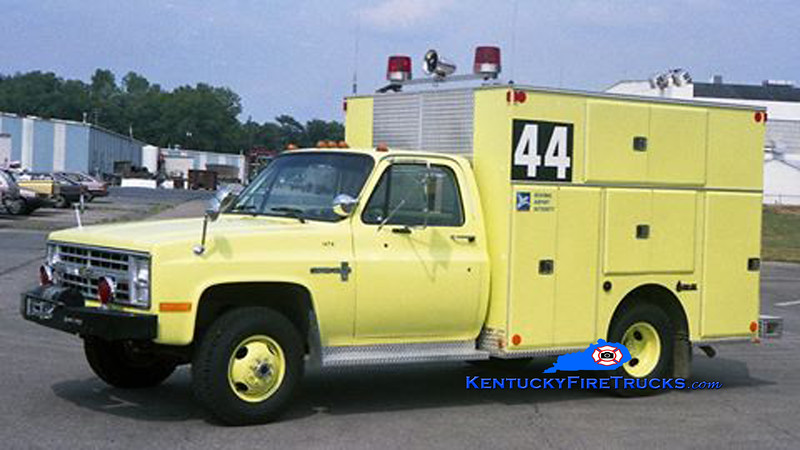 RETIRED <br /> Standiford Field Rescue 44 <br /> 1985 Chevy 4x4/Fire-Tec <br /> Kent Parrish collection
