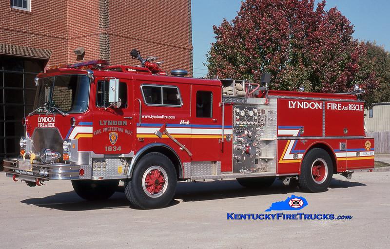 RETIRED<br /> Lyndon Engine 1634<br /> 1990 Mack CF/Grumman 1500/500<br /> Kent Parrish photo