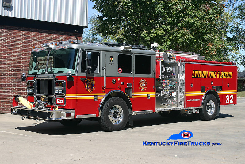 <center> NOW WITH ST. MATTHEWS <br> Lyndon  Engine 1632 <br> 2007 Seagrave Marauder II 1500/500/20 <br> Kent Parrish photo </center>