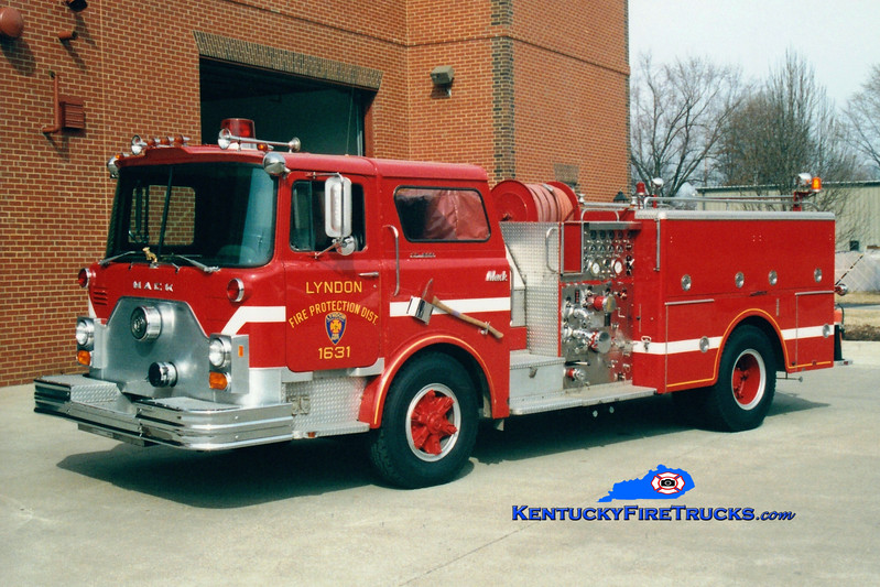 <center> RETIRED <br> Lyndon  Engine 1631 <br> 1977 Mack CF 1500/500 <br> Greg Stapleton photo </center>