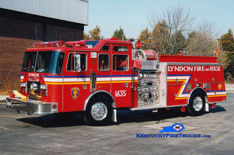 <center> RETIRED <br> Lyndon  Engine 1635 <br> 1995 KME Renegade 1250/500/25/25 <br> Greg Stapleton photo </center>