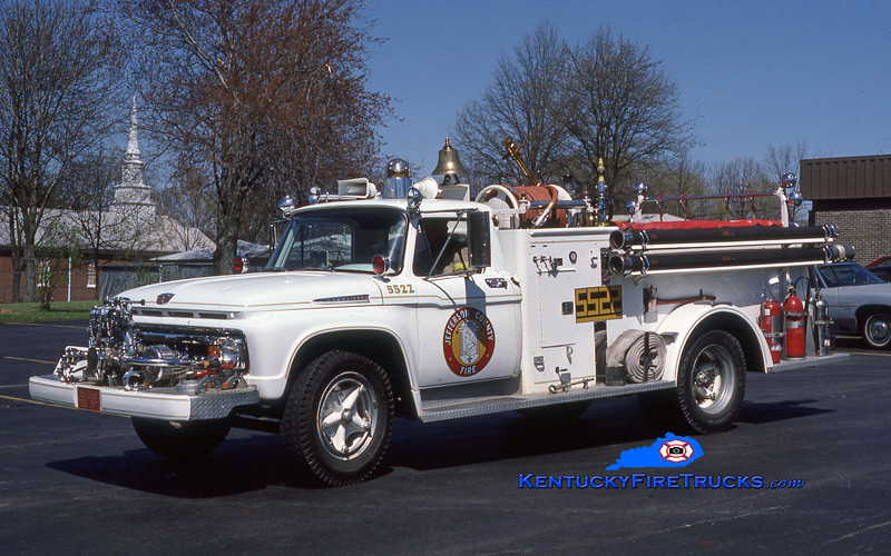 PRIVATELY MAINTAINED  <br /> McMahan Engine 5522<br /> 1962 Ford F-700/Sutphen 500/450<br /> Kent Parrish collection