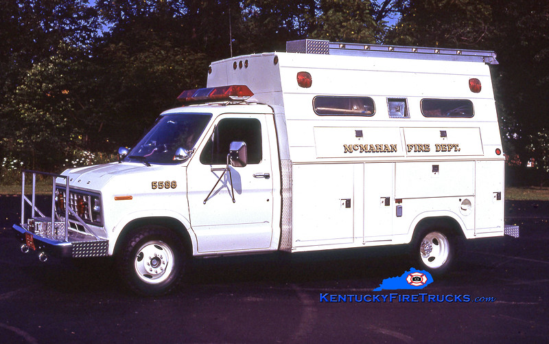 RETIRED<br /> McMahan Utility 5588<br /> 1980 Ford E-350/Stahl<br /> Kent Parrish collection