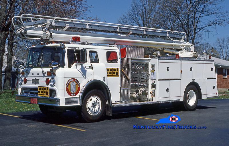 RETIRED <br /> McMahan TeleSqurt 5554 <br /> 1975 Ford C-900/Pirsch 1000/500/50' TeleSqurt  <br /> Kent Parrish collection