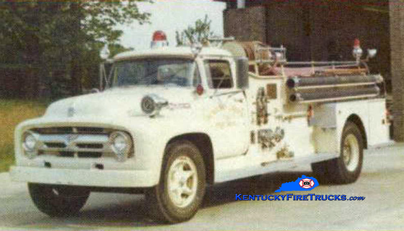RETIRED  <br /> McMahan Engine 2<br /> 1955 Ford F/Seagrave 750/300<br /> Kent Parrish collection