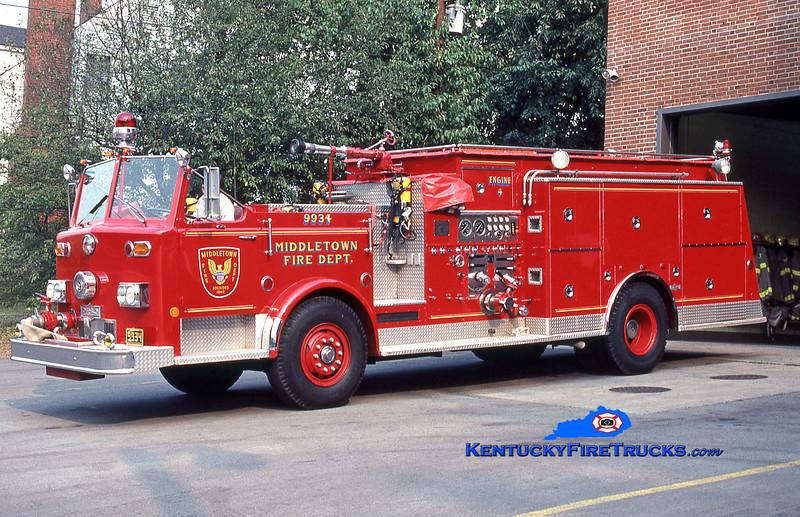 RETIRED<br /> Middletown Engine 9934<br /> 1975 Pirsch 1000/800/Quad<br /> Kent Parrish collection