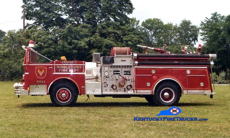 RETIRED<br /> Middletown Engine 9933<br /> 1977 Ward LaFrance Ambassador 1000/500<br /> Kent Parrish collection/MFD
