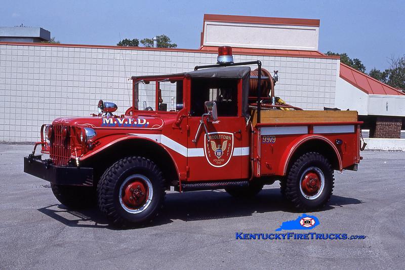 RETIRED<br /> Middletown Brush 9979 <br /> x-Brush 9977<br /> 1963 Dodge M37 4x4/FD 100/200<br /> Kent Parrish collection
