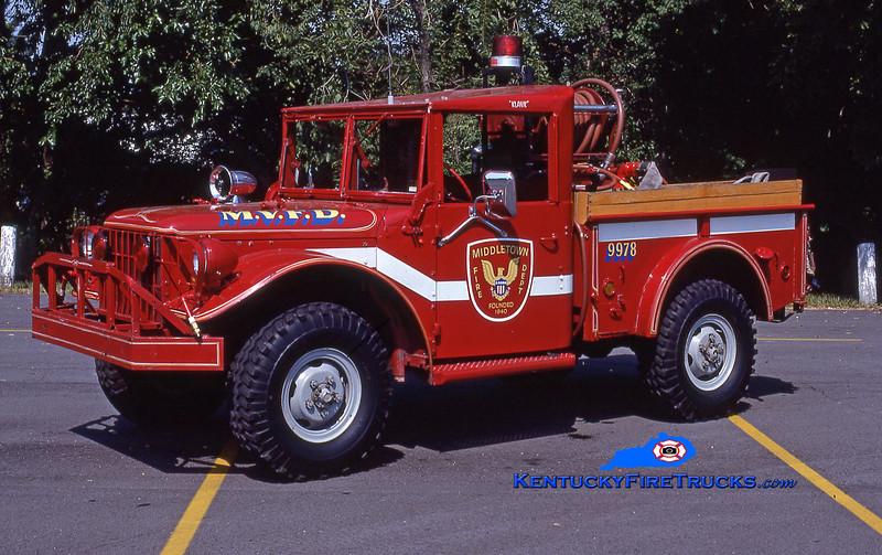 RETIRED<br /> Middletown Brush 9978 <br /> 1963 Dodge M37 4x4/FD 100/200<br /> Kent Parrish collection