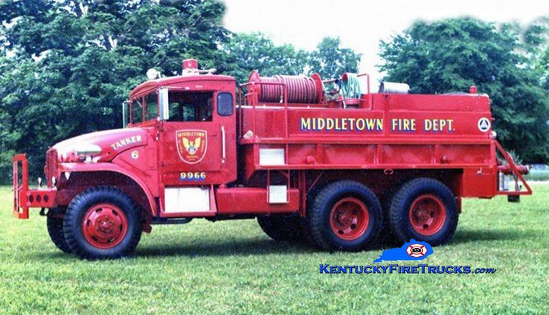 RETIRED<br /> Middletown Tanker 9966 <br /> 1956 GMC/FD 250/1600<br /> Kent Parrish collection/MFD