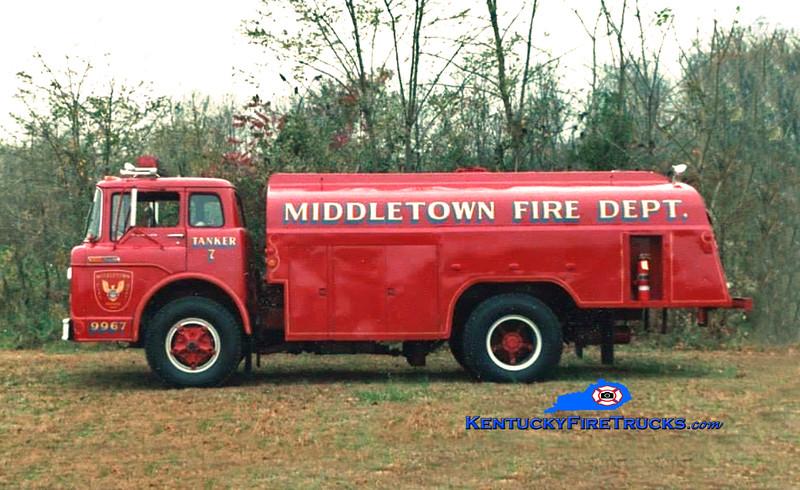 RETIRED<br /> Middletown Tanker 9967<br /> 1968 Ford C-900 250/2200<br /> Kent Parrish collection/MFD