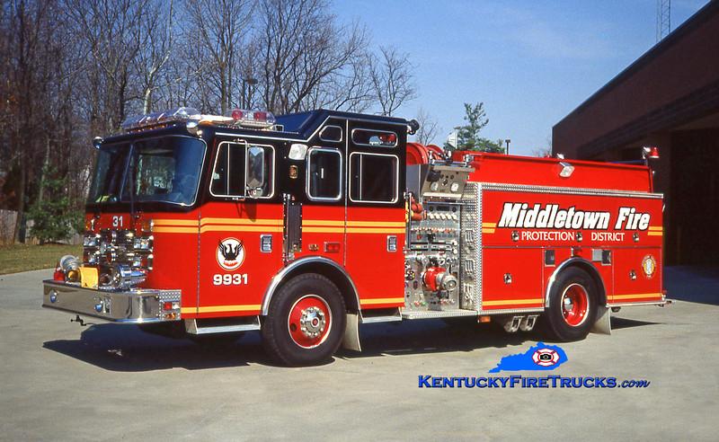 RETIRED<br /> Middletown Engine 9931<br /> 1994 KME Renegade 1500/750<br /> Kent Parrish photo