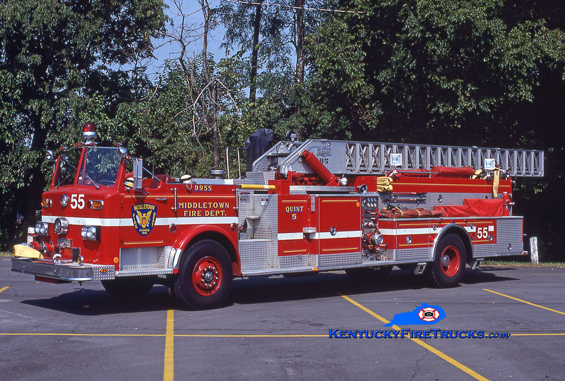 PRIVATELY OWNED <br /> Middletown  Quint 9955<br /> 1975 Pirsch 1000/400/85' <br /> Kent Parrish collection