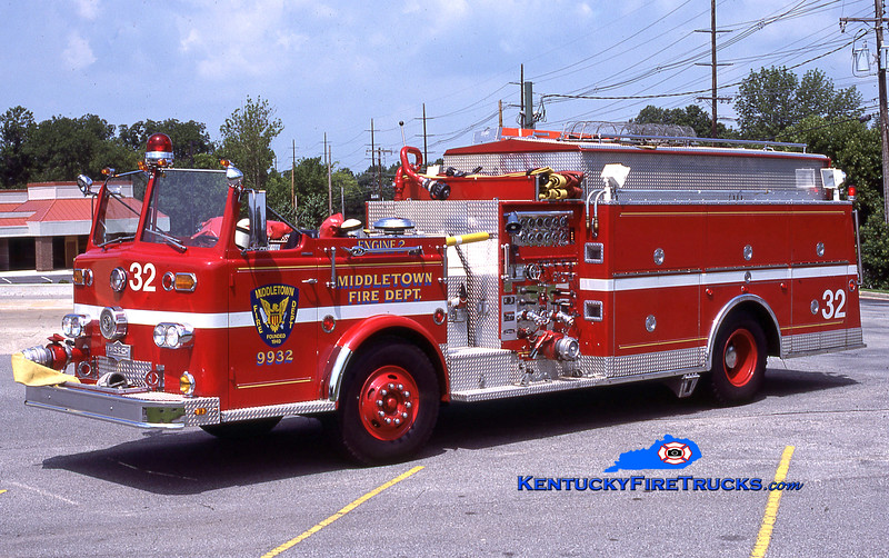 RETIRED<br /> Middletown Engine 9932<br /> x-Quad 9943 <br /> 1964 Ford-Pirsch/1983 Pierce 1000/500/Quad<br /> Kent Parrish collectoin