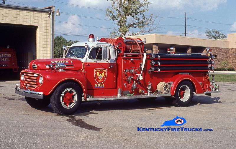ANTIQUE <br /> Middletown Engine 9921<br /> 1950 Ford F-7/Boyer 500/500<br /> Kent Parrish collection