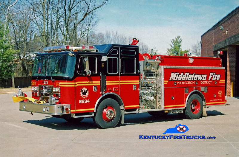 <center> RETIRED <br> Middletown  Engine 9934 <br> 1994 KME Renegade 1500/750 <br> Kent Parrish photo </center>