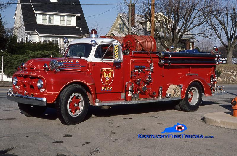 RETIRED <br /> Middletown Engine 9922 <br /> 1952 Ford F-7/Boyer 500/500<br /> Greg Stapleton photo